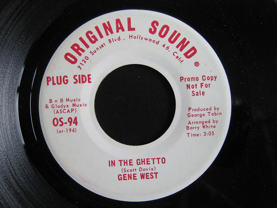 Gene West In The Ghetto white label promo
