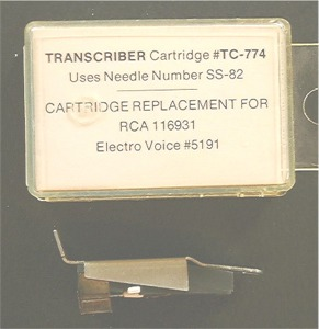 RCA Replacement transcriber cartridge